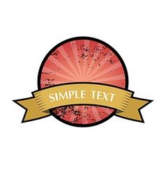 Grunge vintage ribbon badge and labels vector image