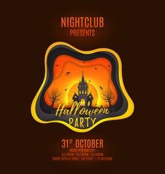 Halloween party poster design vector