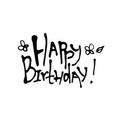 Happy Birthday calligraphy vector image vector image