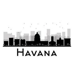 Havana silhouette vector