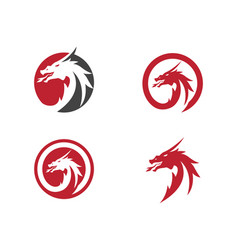 Head dragon logo template vector