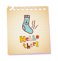 Hello there notepad paper message vector