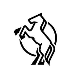 Horse logo symbol vector