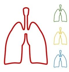 Human organs lungs sign vector