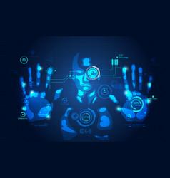 interface man vector image vector image
