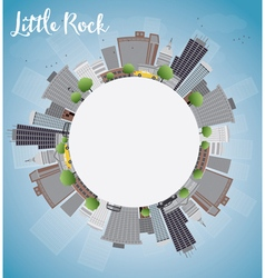 Little rock skyline vector