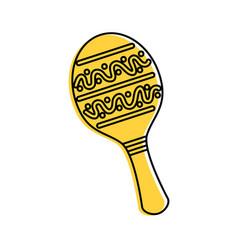 maraca mexican music instrument celebration vector image vector image