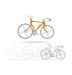 orange mountain bikes isolated on white background vector image vector image