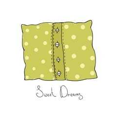 Pillow with buttons cushion vector