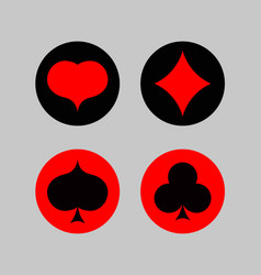 play card icon set vector image