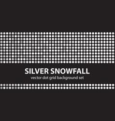 Polka dot pattern set silver snowfall seamless vector