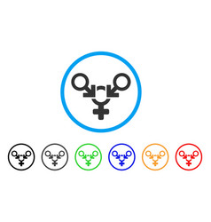 polyandry rounded icon vector image vector image