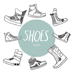 Set with mens shoes vector image vector image
