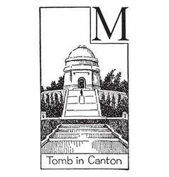 tomb of american president mckinley vintage vector image