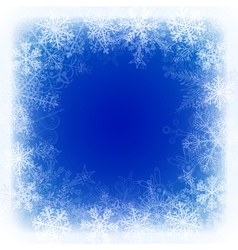 Christmas background with frame of snowflake vector