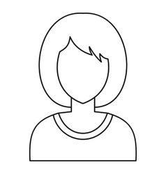 Woman avatar profile icon outline style vector