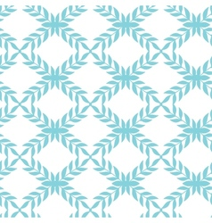 Blue argyle leaves seamless pattern background vector