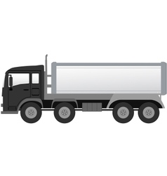 Isolated truck with black cabin vector