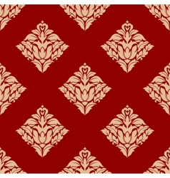 Red and beige arabesque pattern vector
