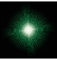 Abstract technology circles dark green back vector