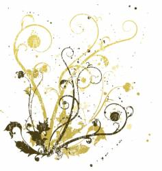 distressed swirls vector image