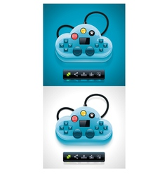 gamers cloud computing xxl icon vector image