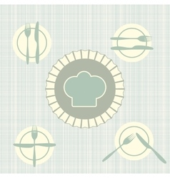The language of cutlery vector