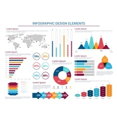 Infographics design charts and elements vector