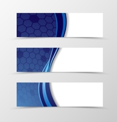 Set of banner grid design vector