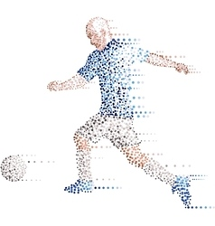 Abstract modern dots football soccer player kick vector