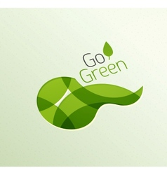 Abstract eco green shape vector image vector image