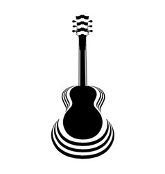acoustic guitar cutout vector image