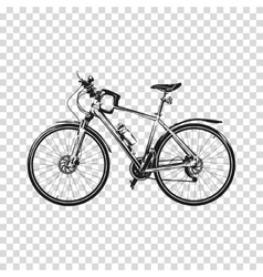Bike a transparent background bicycle silhouette vector