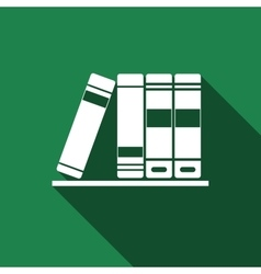 Books icons icon with long shadow vector image