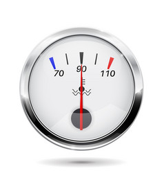 car temperature gauge with chrome frame vector image vector image