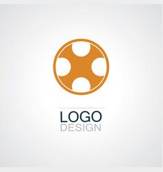 circle letter x logo vector image