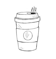 coffee cup doodle icon vector image