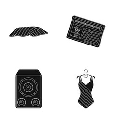 cooking art and other web icon in black style vector image