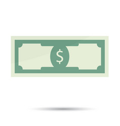 dollar bills flat vector image