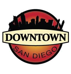 Downtown san diego emblem vector