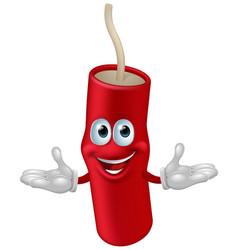 dynamite mascot vector image vector image