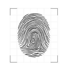 fingerprint - personal id scanning biometric vector image