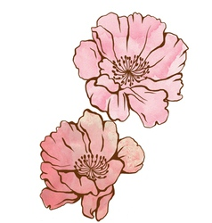flower pink vector image