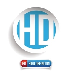 Hd button - high definition set vector
