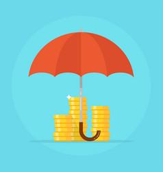 Insurance deposit concept vector