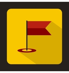Locator flag icon in flat style vector