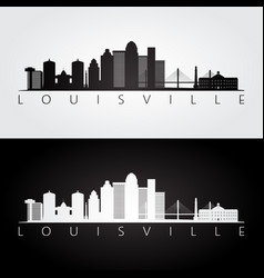 louisville usa skyline and landmarks silhouette vector image vector image