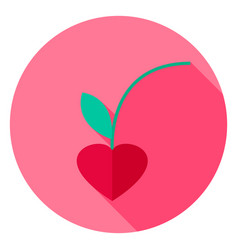 Lovely cherry circle icon vector