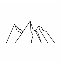 Mountains icon outline style vector image