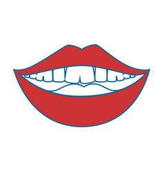 mouth smiling icon vector image